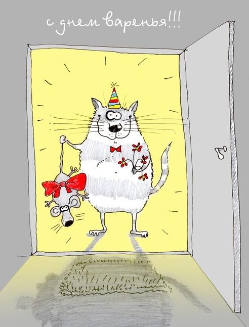 Котик поздравление с днем рождения картинки